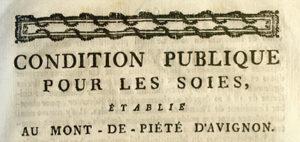 Placard annonçant, archives d'Avignon