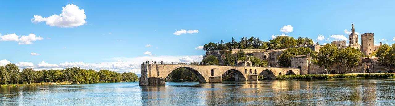 le Pont d'Avignon et le Palais des papes