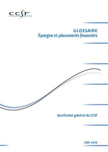 GLOSSAIRE - Epargne et placements financiers