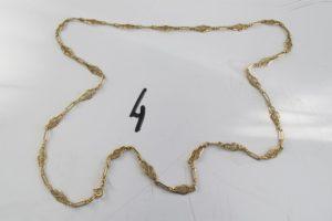 1 Collier en or à motifs filigranés (L69cm).PB 19,9 g