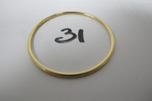1 Bracelet jonc d'enfant en or(D4,7cm). PB 7,4g