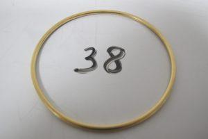 1 Bracelet jonc en or(D6cm).PB 9,2g