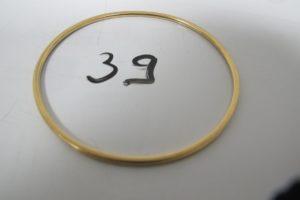 1 Bracelet jonc en or(D 6cm).PB 9 g