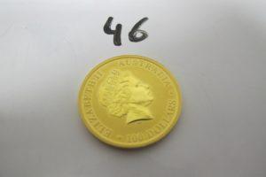 1 Pièce en or Australienne Elisabeth II de 100 dollars 2016.PB 31,1g
