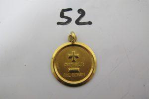 1 Médaille d'Amour en or.PB 5,6g