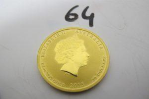 1 Pièce australienne Elisabeth II 50 dollars.PB 15,6g