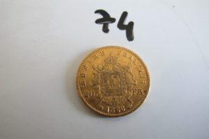 1 Pièce en or de 20 frs Napoléon III 1866.PB 6,4g