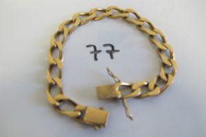 1 Bracelet en or maille gourmette(L19cm)PB 37,5g