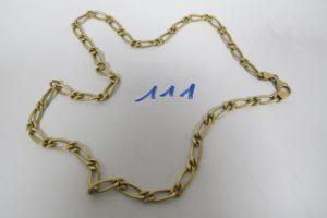 1 Chaine en or maille alternée(L51cm) PB 16,6g