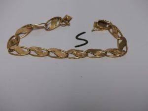 1 bracelet gourmette souple en or (L21cm). PB 15,2grs