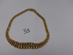 1 collier maille américaine en or (L47cm). PB 38,9g