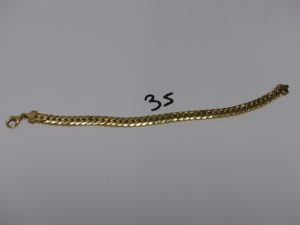 1 bracelet maille anglaise en or (L20cm). PB 9,9g