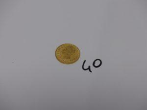 1 Pièce de 20 Lires Umberto I 1882 en or. PB 6,4g