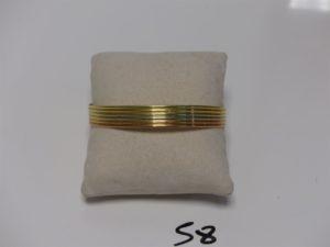 1 bracelet esclave 3ors ouvert (diamètre 6,5cm). PB 15,7g
