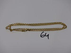 1 chaîne maille marine en or (L50cm). PB 6,3g