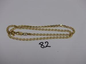 1 chaîne maille marine en or (L50cm). PB 17,6g