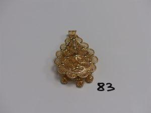 1 pendentif meskia en or (H7cm). PB 34,9g