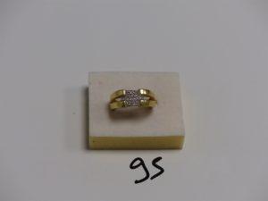 1 bague en or ornée d'un pavage de petits diamants (td52). PB 6,5g
