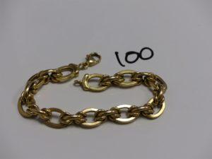 1 bracelet maille royale en or (L19cm). PB 17,9g
