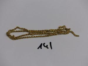 1 chaîne maille tressée cassée en or. PB 4,8g