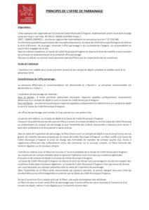 Règlement opération parrainage 2019
