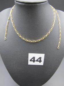 1 chaîne en or maille cheval(sans fermoir L 50cm). PB 7,1g