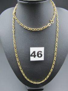 1 chaîne en or maille alternée (L 68cm) PB 23,1g