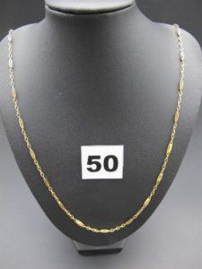 1 chaine en or maille fantaisie (L 51cm)PB 5,6g