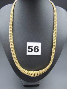 1 collier en or gradué,maille américaine(L 44cm). PB 18,9g