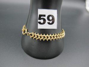 1 bracelet en or maille fantaisie (L 21cm). PB 10,4g