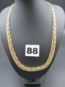 1 collier en or maille festonnée demi- bombée (L 46cm). PB 30,8g