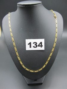 1 chaine en or maille alternée (L 52cm) PB 12,7g