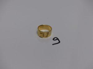 1 bague en or, motif central à décor d'une boucle de ceinture (td54). PB 6,8g