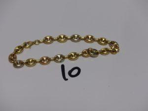 1 bracelet maille grain de café 3ors (l 18,5cm). PB 7,1g