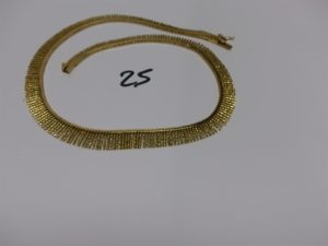 1 collier draperie en or (L43cm). PB 39,7g
