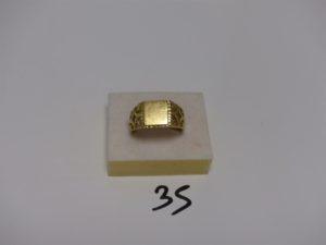1 chevalière en or (td65). PB 7,2g