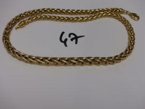 1 collier maille palmier en or (L45cm). PB 26,9g