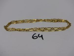 1 chaîne maille alternée en or (L45cm). PB 10,1g