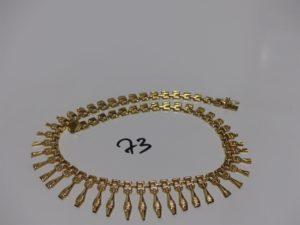 1 collier draperie en or (L40cm). PB 20,9g