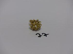 1 bague en or rehaussée d'une perle (td53). PB 3,5g