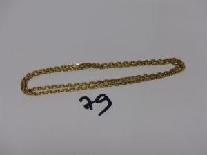 1 chaîne maille forçat en or (L46cm). PB 11,6g