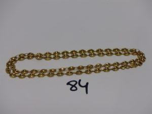 1 chaîne maille grain de café en or (L56cm). PB 15,7g