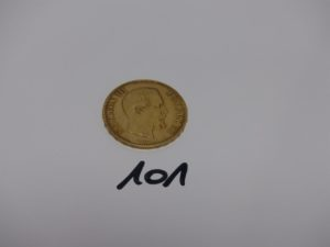 1 Pièce de 100frs NAPIII 1857A. Or 32,3g