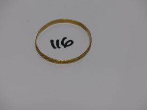 1 bracelet rigide ouvragé pour enfant enor (diamètre 4,5cm). PB 6,8g