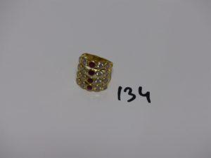 1 bague en or ornée de petites pierres (td55). PB 5,6g