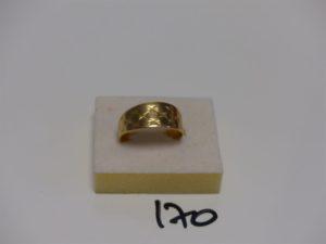 1 bague en or à décor de petites croix (td66). PB 5,4g