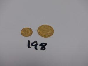 1 pièce de 20frs RF1911 et 1 petite pièce Turque. Or 8,2g