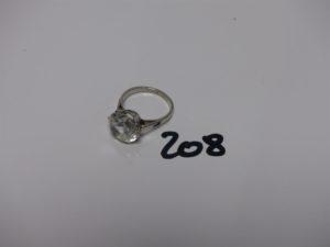 1 bague en or rehaussée d'une pierre blanche (td54). PB 6,5g