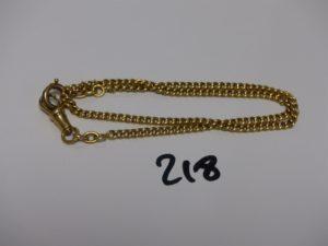 1 giletière en or (L38cm). PB 7,2g