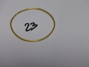 1 bracelet jonc en or (diamètre 6cm). PB 10,3grs